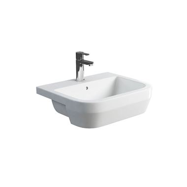 Britton Bathrooms Curve 550mm Semi-Recessed Basin