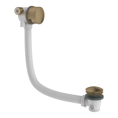 Britton Bathrooms Hoxton Overflow Bath Filler & Waste - Brushed Brass