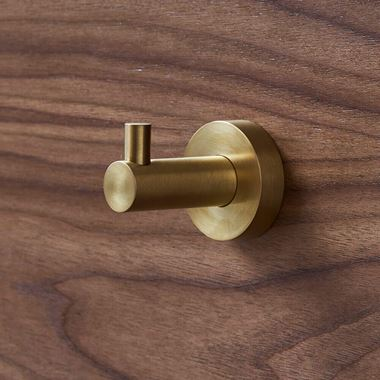 Britton Bathrooms Hoxton Robe Hook - Brushed Brass