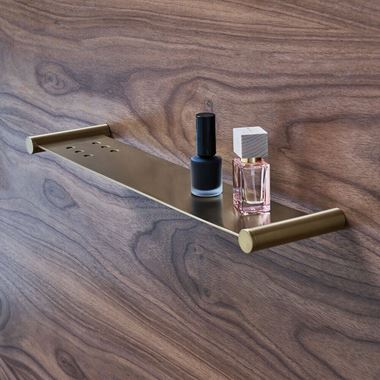 Britton Bathrooms Hoxton Shelf - Brushed Brass