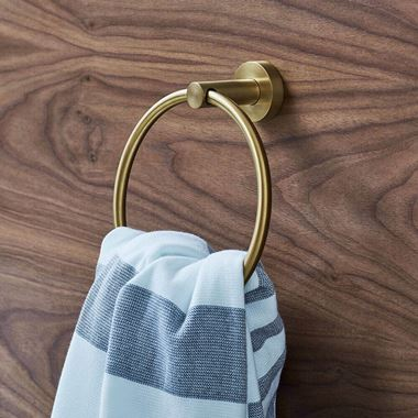 Britton Bathrooms Hoxton Towel Ring - Brushed Brass
