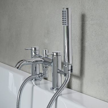 Britton Bathrooms Hoxton Bath Shower Mixer Tap - Chrome