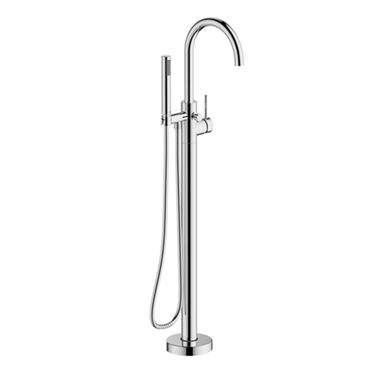 Britton Bathrooms Hoxton Floorstanding Bath Shower Mixer Tap - Chrome