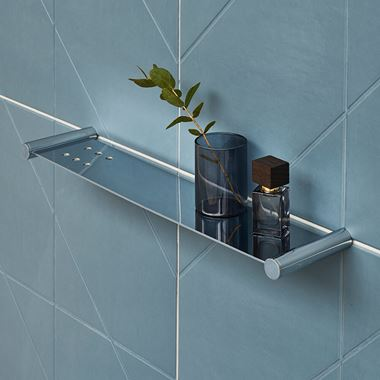 Britton Bathrooms Hoxton Shelf - Chrome