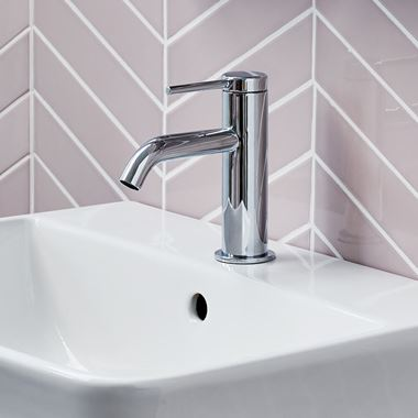 Britton Bathrooms Hoxton Slim Basin Mixer Tap - Chrome