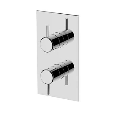 Britton Bathrooms Hoxton 1 Outlet Thermostatic Concealed Shower Valve - Chrome