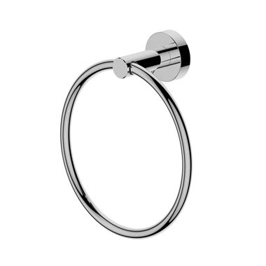 Britton Bathrooms Hoxton Towel Ring - Chrome