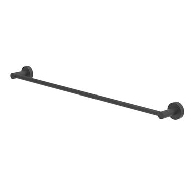 Britton Bathrooms Hoxton 600mm Single Towel Rail - Matt Black