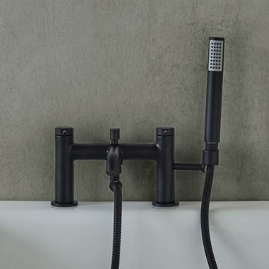 Britton Bathrooms Hoxton Bath Shower Mixer Tap - Matt Black