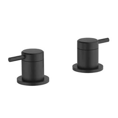 Britton Bathrooms Hoxton Deck Mounted Panel Valves - Matt Black