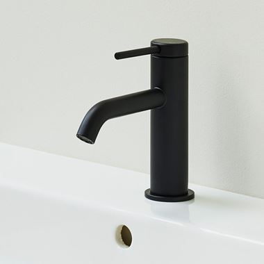 Britton Bathrooms Hoxton Slim Basin Mixer Tap - Matt Black