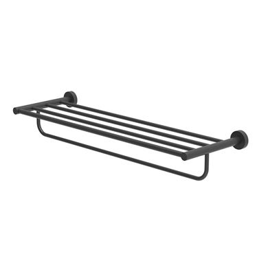 Britton Bathrooms Hoxton Towel Rack - Matt Black