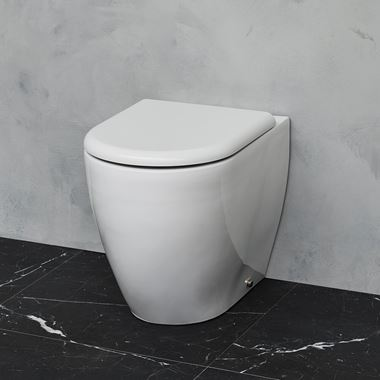 Britton Bathrooms Milan Back to Wall Toilet & Soft Close Seat - 530mm Projection