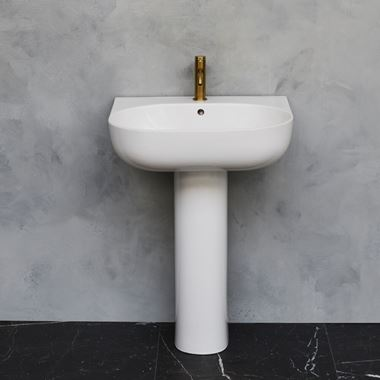 Britton Bathrooms Milan Basin & Pedestal - 500mm & 600mm