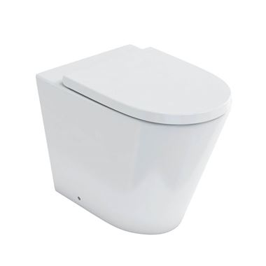 Britton Bathrooms Sphere Rimless Back to Wall Toilet & Seat - 520mm Projection