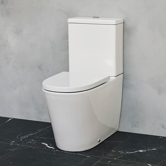 Britton Bathrooms Sphere Rimless Close Coupled Toilet & Seat - 690mm Projection