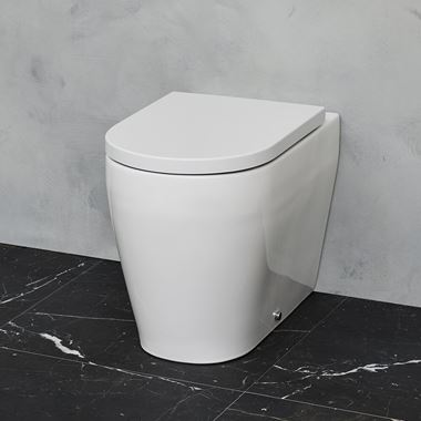 Britton Bathrooms Stadium Back to Wall Toilet & Soft Close Seat - 545mm Projection