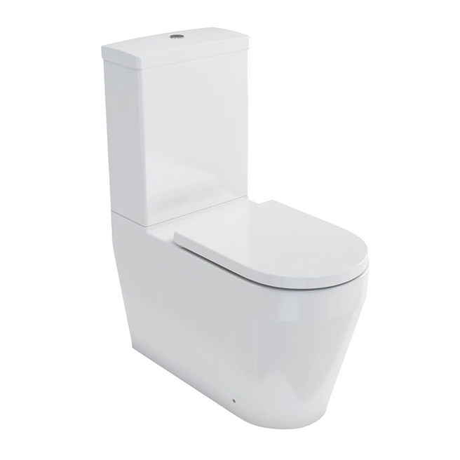 Britton Bathrooms Stadium Close Coupled Toilet & Soft Close Seat- 680mm Projection