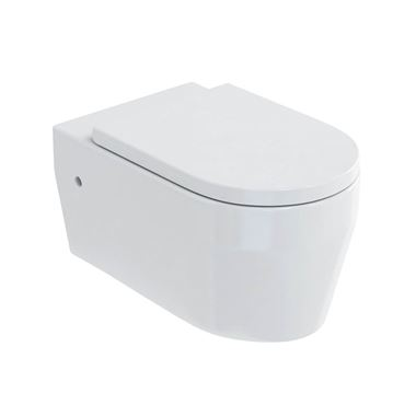 Britton Bathrooms Stadium Wall Hung Toilet & Soft Close Seat - 545mm Projection