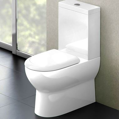 Britton Bathrooms Compact Toilet & Soft Close Seat - 630mm Projection