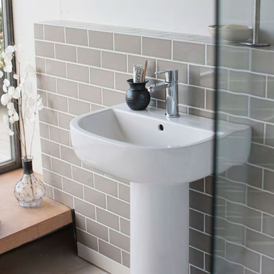 Britton Bathrooms Compact Pedestal Basin - 650mm