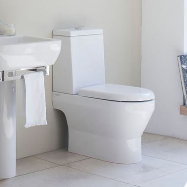 Britton Bathrooms Curve Open Back Toilet & Seat - 650mm Projection
