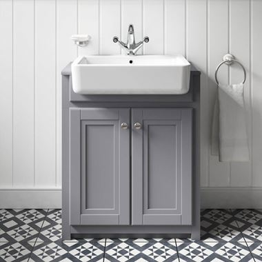 Butler & Rose Darcy Vanity Unit with Belfast Basin - Matt Grey