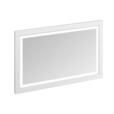 Burlington Wooden Framed 1200mm Mirror with LED Illumination - Matt White