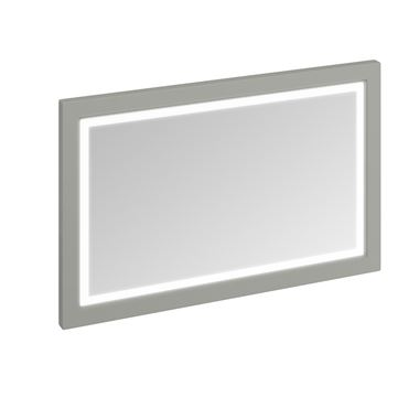 Burlington Wooden Framed 1200mm Mirror with LED Illumination - Dark Olive