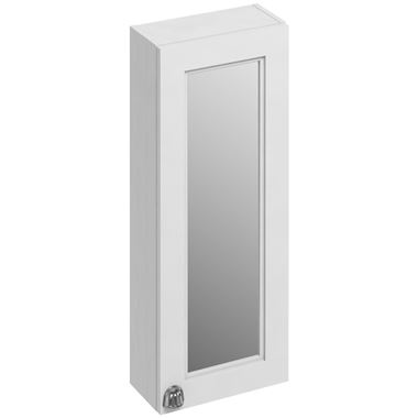 Burlington Single Door Wall Mounted Mirrored Cabinet - 300 x 750mm
