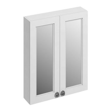 Burlington Double Door Wall Mounted Mirrored Cabinet - 600 x 750mm