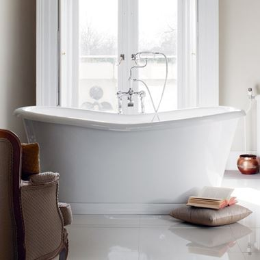 Burlington Admiral Freestanding Roll Top Bath - 1650 x 705mm & 1800 x 885mm