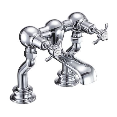 Burlington Anglesey Regent Deck Mounted Bath Mixer Tap