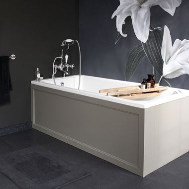 Burlington Arundel Cleargreen Single Ended Bath - 1700mm x 750mm