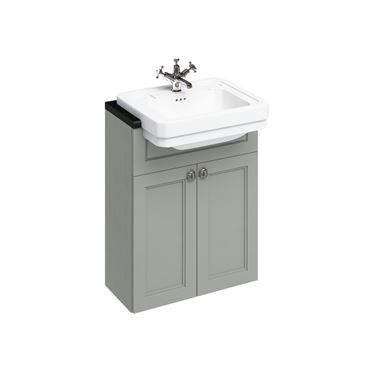 Burlington Floorstanding Vanity Unit with Semi Recessed Basin - 600mm