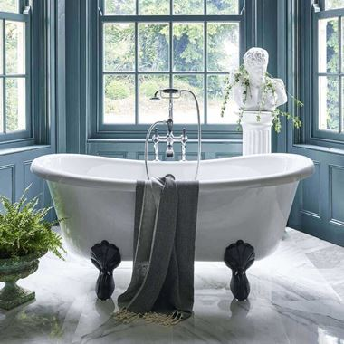 Burlington Bateau Roll Top Bath with Luxury Feet - 1640 x 700mm