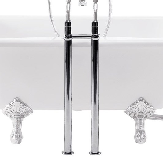 Burlington Bath Stand Pipes including Horizontal Support Bar