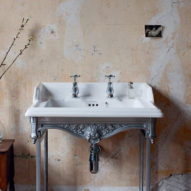 Burlington Classic Rectangular Basin with Aluminium Washstand