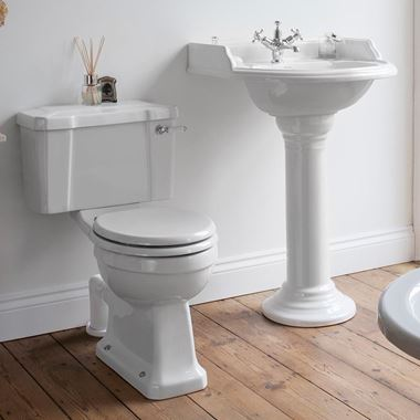 Burlington Close Coupled Toilet & Soft Close Seat - 730mm Projection