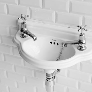 Burlington Curved Cloakroom Basin