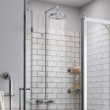Burlington Eden Exposed Thermostatic Shower Kit with AirBurst Shower Head