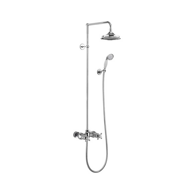 Burlington Eden Exposed Thermostatic Shower Kit, AirBurst Shower Head & Shower Handset