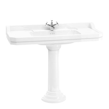 Burlington Edwardian 120cm Basin with Regal Pedestal - 2 Tap Holes