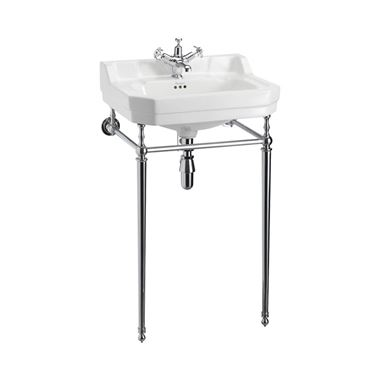 Burlington Edwardian 56cm Basin & Chrome Basin Stand