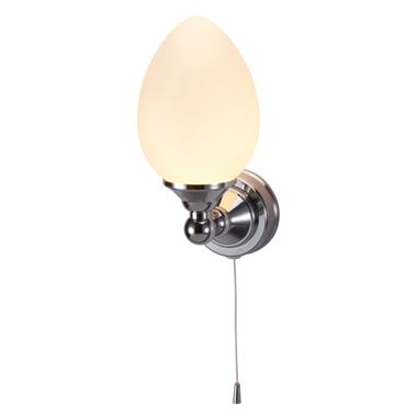 Burlington Edwardian Single Elliptical LED Wall Light with Pull Cord