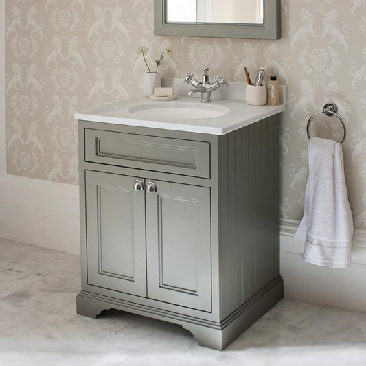 Burlington Freestanding 65 Vanity Unit with Minerva Worktop & Basin - 666mm