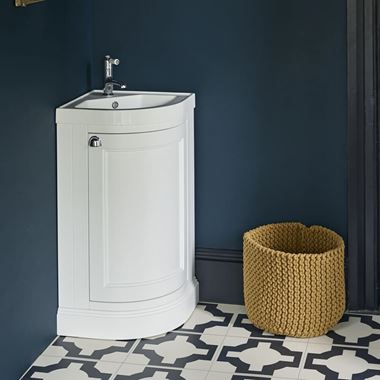 Burlington Freestanding Corner Cloakroom Vanity Unit