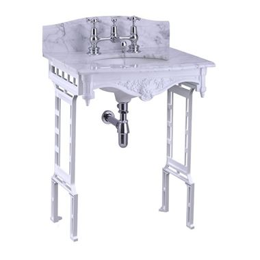 Burlington Georgian Marble Basin & Aluminium Wash Stand