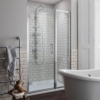 Burlington Traditional Hinged Shower Door & Optional Side Panel
