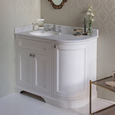 Burlington Freestanding 100 Left Hand Corner Vanity Unit with Minerva Worktop - 983mm
